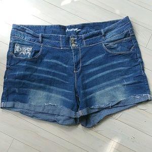 Amethyst denim shorts